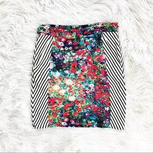 Anthropologie Tabitha meadow watercolor skirt